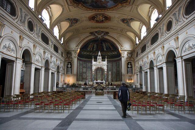 File:Santa Cecilia in Trastevere interior.jpg