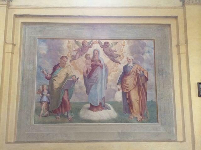 File:S. Andrea del Vignola - Fresco Madonna della Neve.jpg