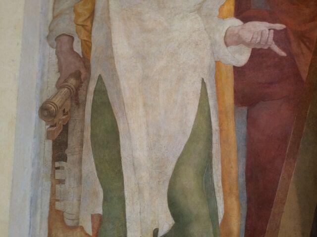 File:S. Andrea del Vignola - Fresco of Andrew and Peter - detail of Keys.jpg