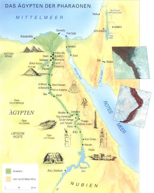 ägypten Pyramiden Karte