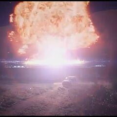 Tess possibly blows up the FBI Building in the same way.
