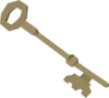 Bronze key (H.A.M.) detail