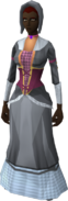 Colonist's outfit equipped (female)