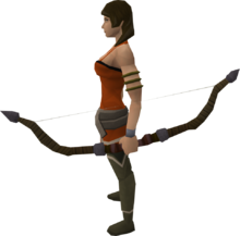 Willow comp bow equipped
