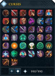 Ancient Curses interface