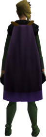 Cape (purple) equipped