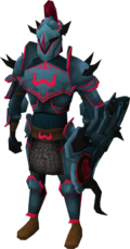Zamorak armour set (lg) equipped