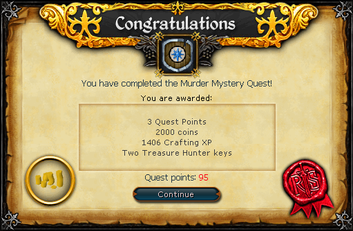 Murder Mystery reward