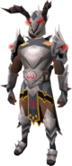 K'ril's Godcrusher armour equipped (male)