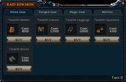 Raid Rewards stock (Melee Gear)