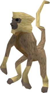 Monkey (tan and beige) pet