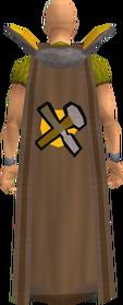 Retro crafting cape equipped
