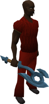Rune hatchet equipped