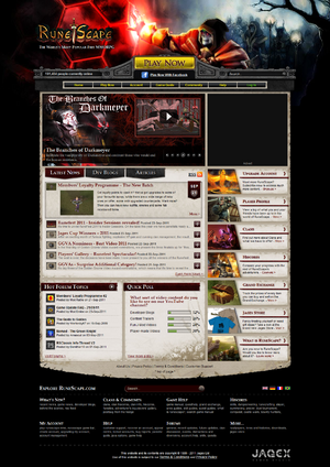 RuneScape webpage 14 september 2011