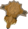 Tanned fox pelt detail