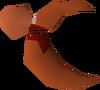 Broken crab claw detail