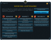 Report interface (lobby)