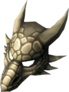 Steel dragon mask detail