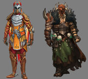 Warpriest of Bandos and Armadyl concept art