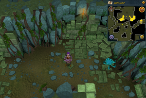 Scan clue Brimhaven Dungeon lower level north-east side of fire giant chamber