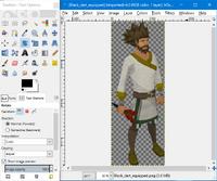 GIMP - rotate tool example1
