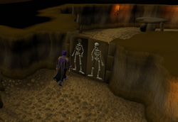 Shilo village - skeleton door