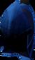 Blue dragonhide coif detail