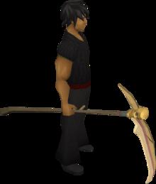 Golden scythe equipped