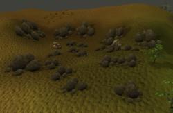 Battlefield mining site