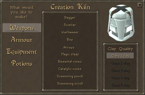 Creation kiln interface