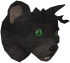 Lazy cat (black) chathead