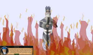 Wise Old Man in Defender of Varrock