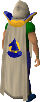 Retro magic cape equipped