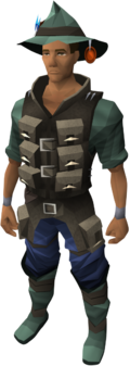 Fishing outfit equipped