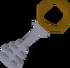 Silver key brown detail