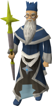 Wise Old Man (Saradomin staff)