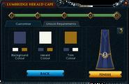 Herald cape colour selection