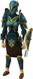 Rune gold-trimmed armour set (sk) female equipped
