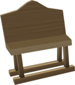 Oak bench built