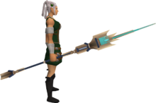 Wizards' Tower staff equipped
