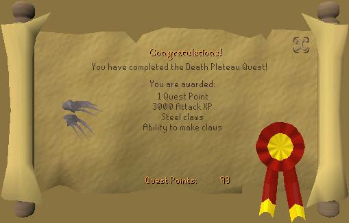 Death Plateau Reward