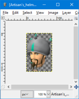 GIMP - flip tool example1