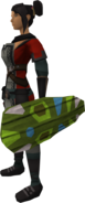 Broodoo shield (green) equipped