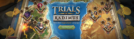 Trials of Radimus head banner