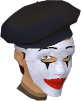 Beret and mask chathead