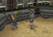 Thok fighting Rammernaut