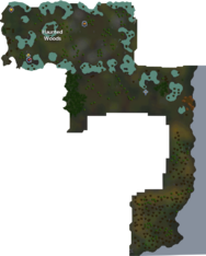 Haunted Woods map