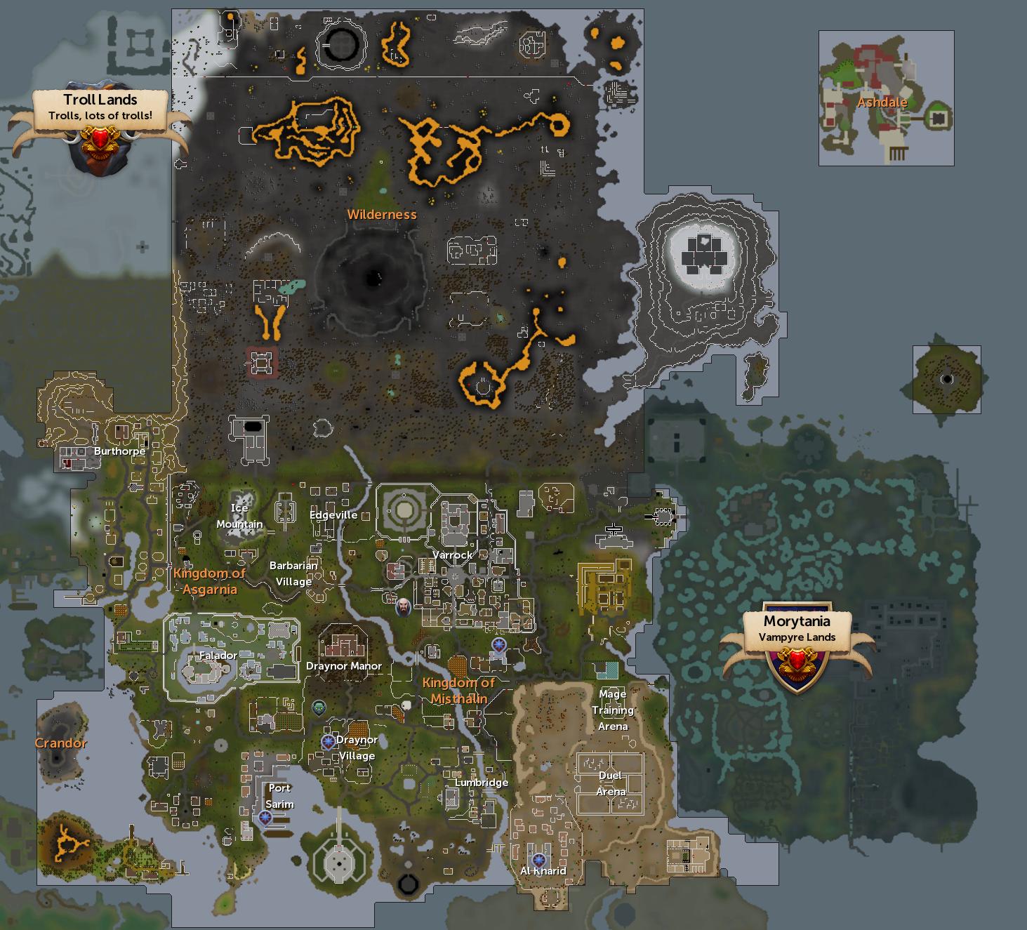 Runescape Free Map