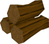 Maple pyre logs detail