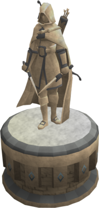 Engraved ranged statue